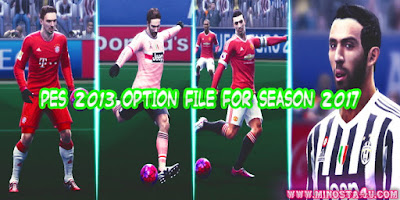PES 2013 OPTION FILE FOR SEASON 2017 WEEKLY UPDATE BY MINOSTA