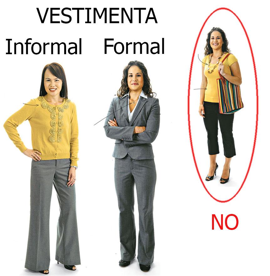 Vestimenta formal de negocios mujer