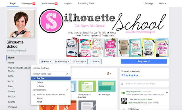 facebook hiding posts, facebook pages not showing, silhouette school, silhouette help