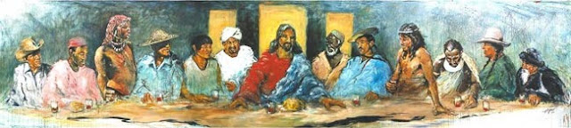 The Last Supper with Twelve Tribes, by Hyatt Moore