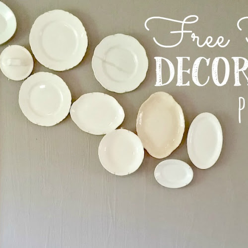 Freeform Decorative Plate Wall