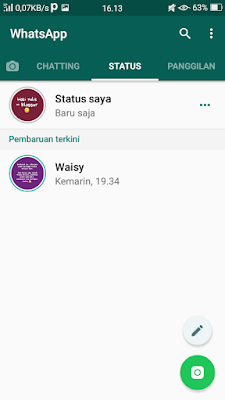 update status dengan backround warna-warni