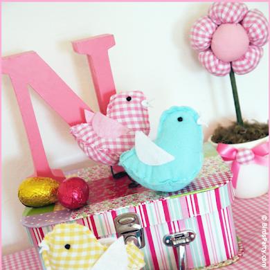 Easter DIY   Plush Birdies with FREE Templates