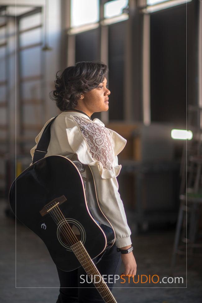 Girls Senior Portrait Ideas with Guitar Music - SudeepStudio.com Ann Arbor Senior Pictures Photographer