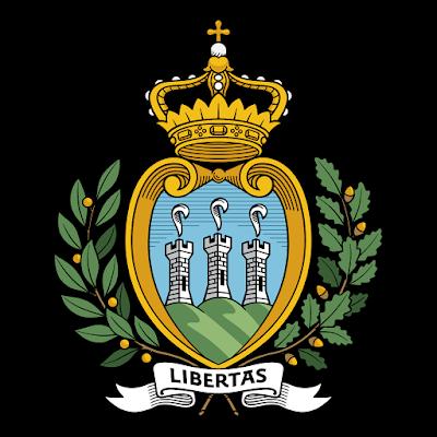 Coat of arms - Flags - Emblem - Logo Gambar Lambang, Simbol, Bendera Negara San Marino