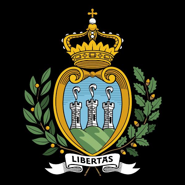 Logo Gambar Lambang Simbol Negara San Marino PNG JPG ukuran 600 px