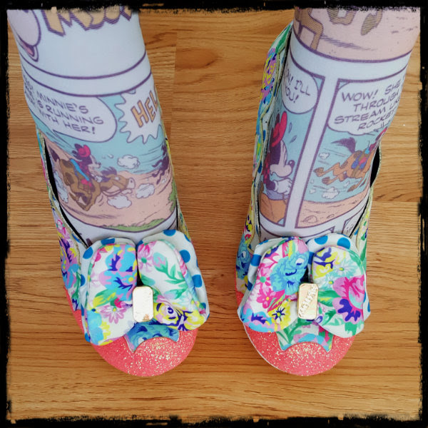 irregular choice disney sherbet ice cream bow detail
