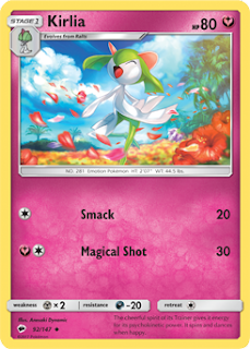 Kirlia Burning Shadows Pokemon Card