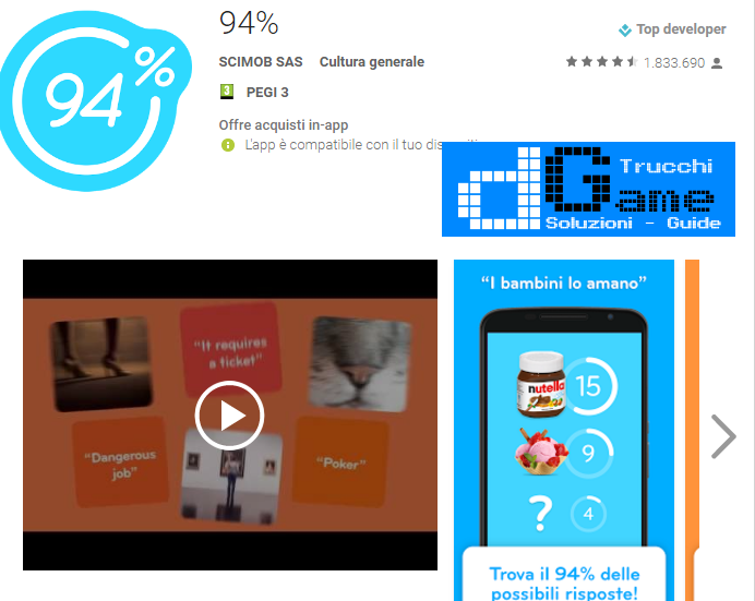 Soluzioni 94%  livello 186-187-188-189-190 | Trucchi e Walkthrough level