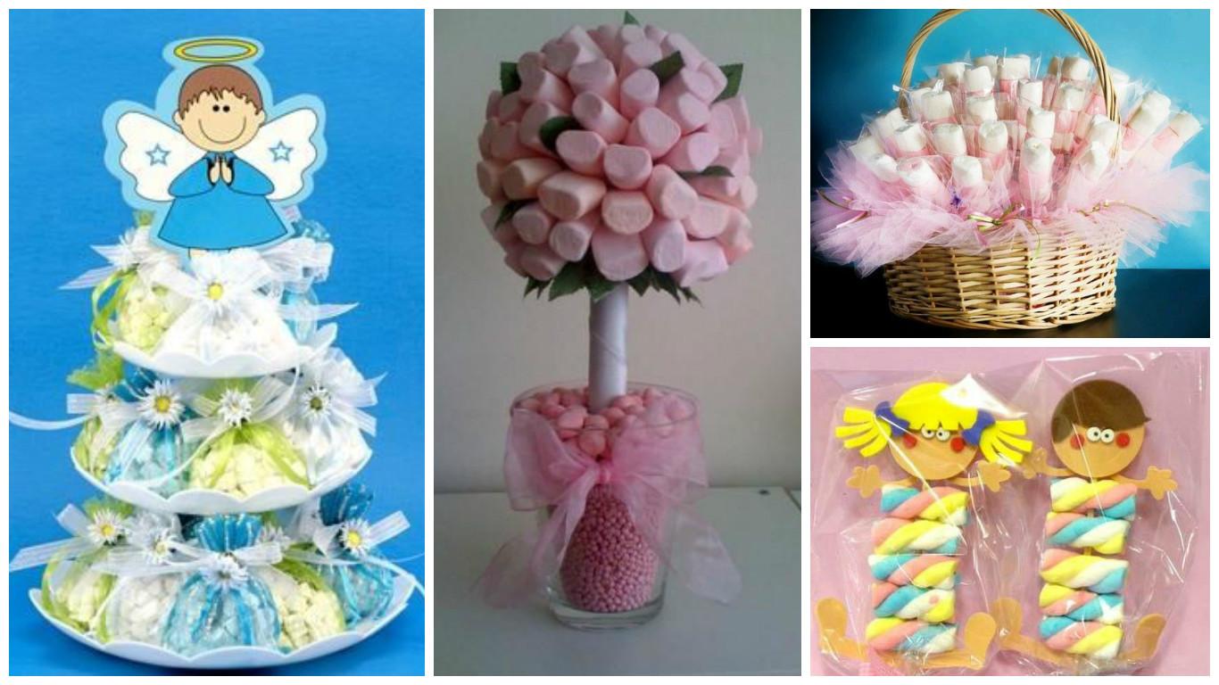 11 ideas para hacer centros de mesa y bolsitas de dulces - Como hacer centros de mesa con dulces para bautizo ...