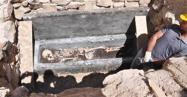 Byzantine sarcophagus seized from treasure hunters in central Turkey