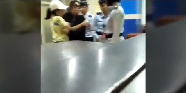 Seorang Wanita Yang Ngaku Istri Jendral, Menampar Petugas Aviation Security