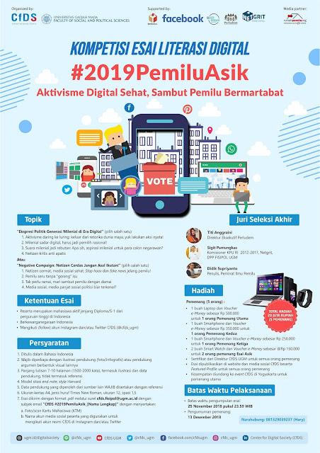 Lomba/Kompetisi Esai Literasi Digital 2018 Mahasiswa
