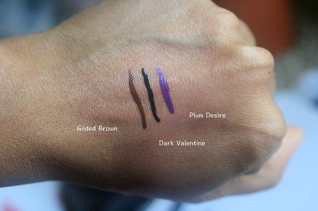 Elizabeth Arden Beautiful Color Bold Defining 24HR Liquid Eye Liner | Gilded Brown, Dark Valentine, Plum Desire