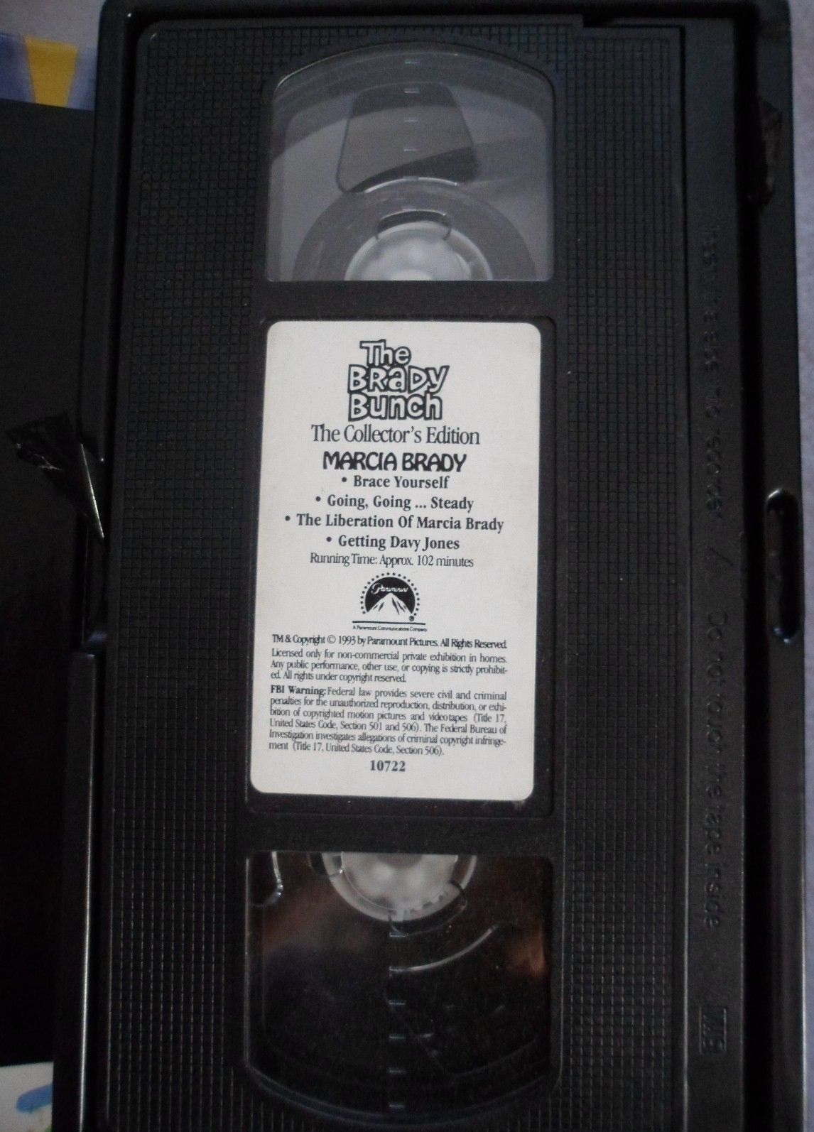 The Vcr From Heck Fifty Cartoons Week Tuesday 50: The Brady Bunch Blog: Brady Bunch Columbia House VHS