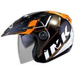 Helm INK T1 Seri 2 Hitam Orange Bumble Bee