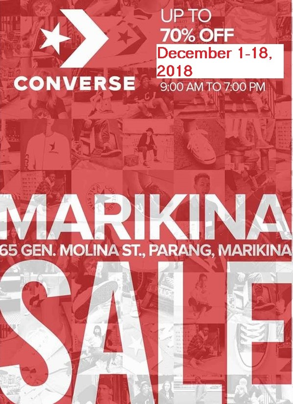 converse sale marikina december 2018