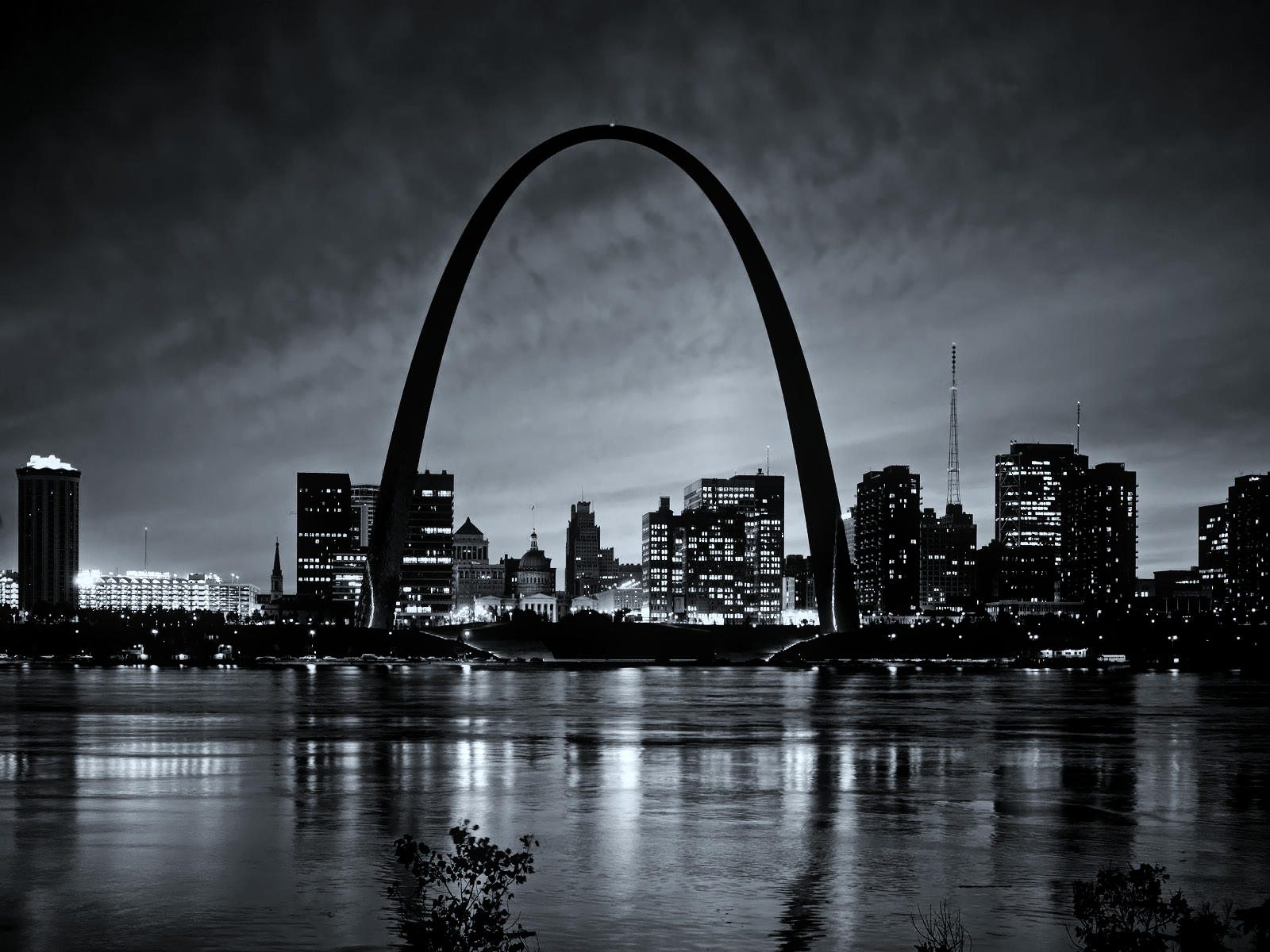 St Louis History In Black And White: Black And White St Louis Wallpaper