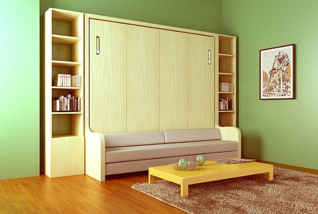 Giường đa năng kết hợp ghế ngồi sofa + kệ sách 2 bên đẹp