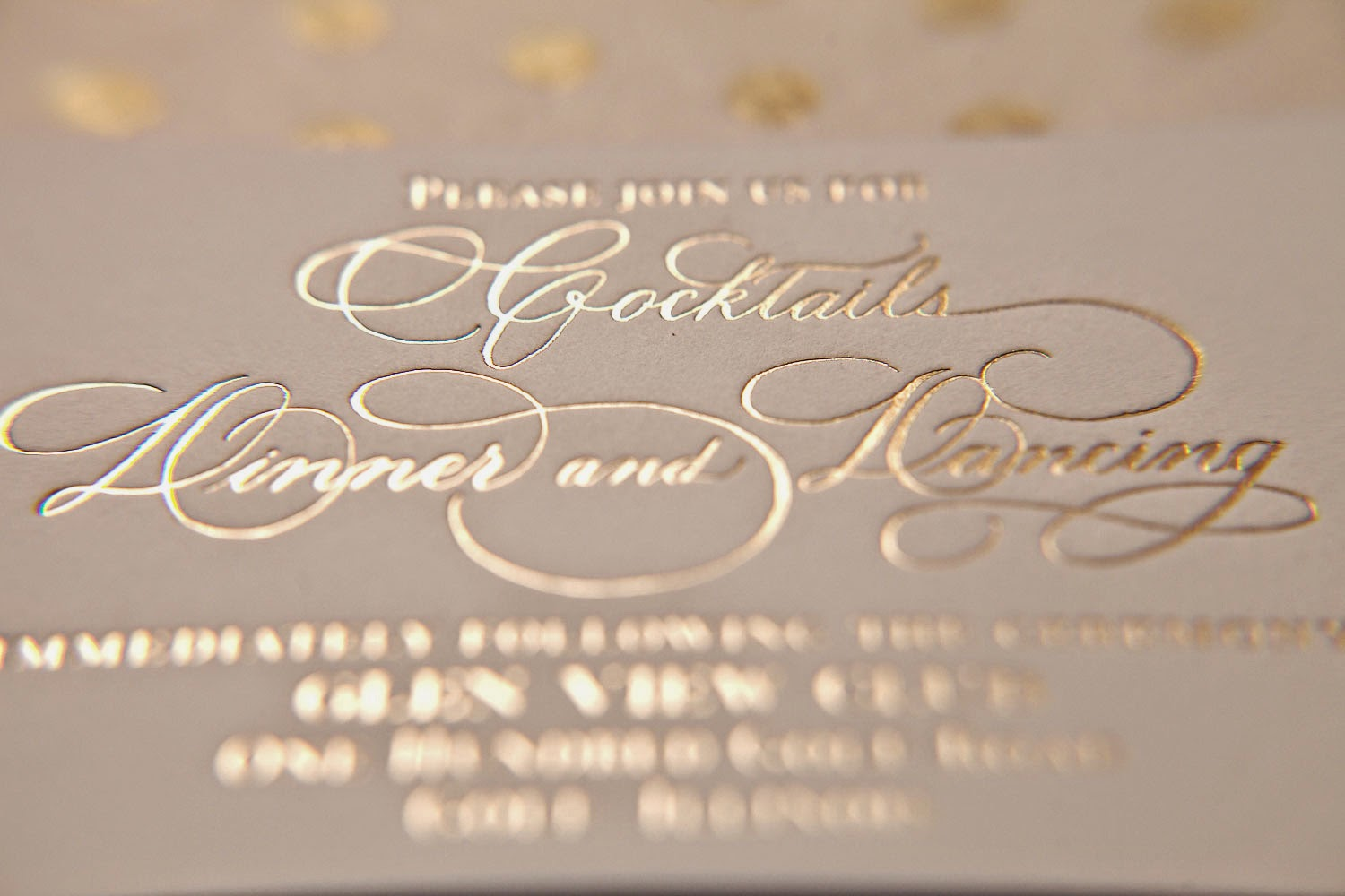 Gold Foil Stamped Wedding Invitations: Nico And LaLa: Elegant Winter Wedding