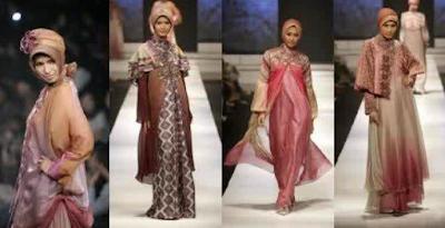 Model Baju Muslim Gamis Brokat Kombinasi Batik Terbaru