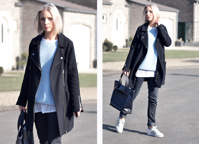 Street style, marc by marc jacobs, primark, layers, light blue, baby blue, adidas, superstar, belgium
