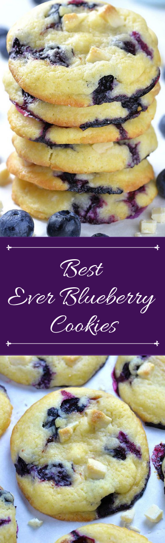 Best Ever Blueberry Cookies #desserts #cakerecipe