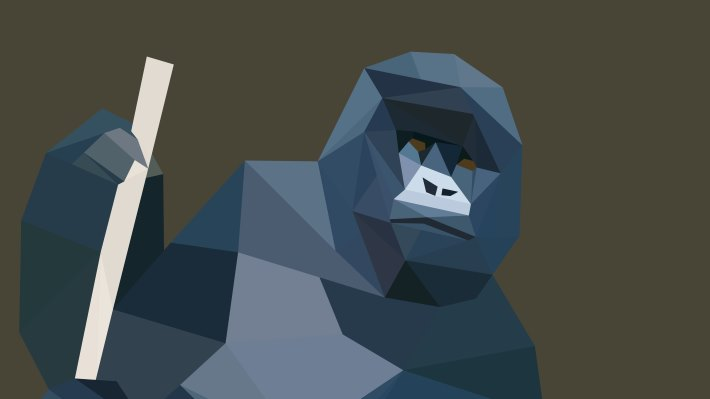 Wallpaper: Low Poly Gorilla