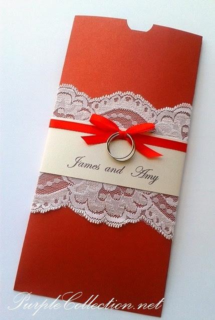 Pocket Style Wedding Card, Lace Wedding Card, Rings Wedding Card, Restaurant Oversea Subang Parade