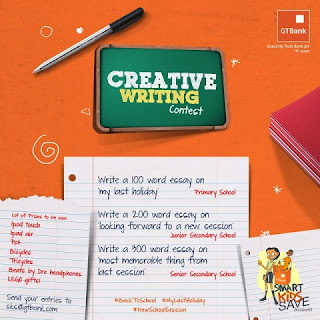 "GTBank SKS ""Back to School"" creative writing competition"