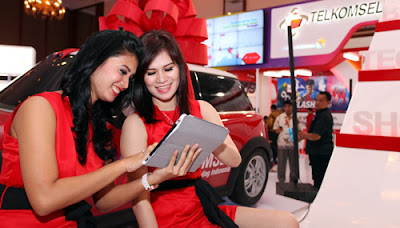 SPG Telkomsel hot