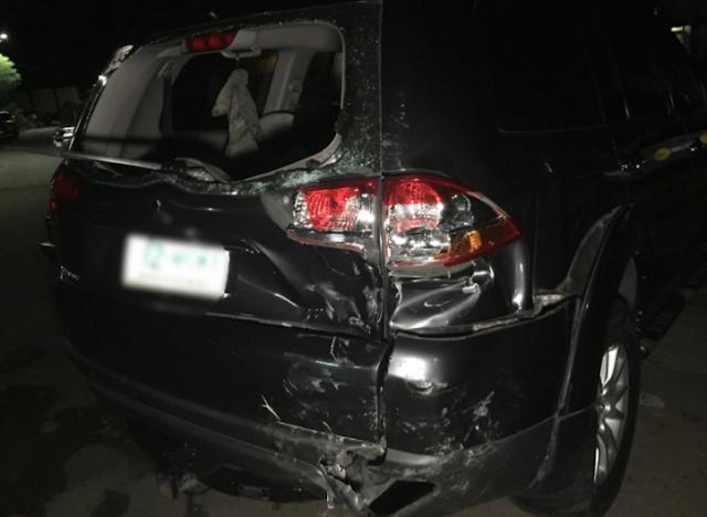 JOLINA MAGDANGAL CAR CRASHES AT QC
