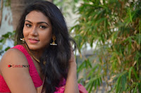 Actress Risha Pos in Pink Silk Saree at Saravanan Irukka Bayamaen Tamil Movie Press Meet  0013.jpg