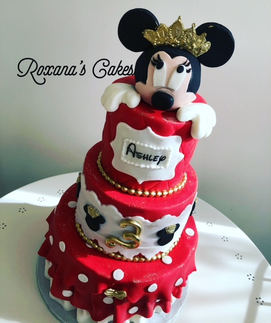 Groovy Baking With Roxanas Cakes Birthday Cake Minnie Mouse Themed Personalised Birthday Cards Paralily Jamesorg