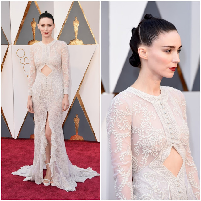 WHO WORE WHAT?.....88th Annual Academy Awards: Rooney Mara in Givenchy Haute Couture S/S 2016