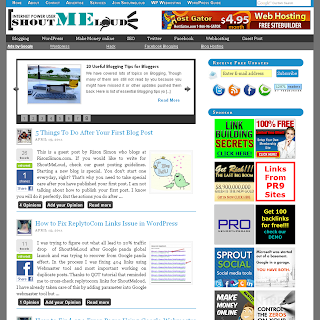 Shoutmeloud thesis theme for blogger