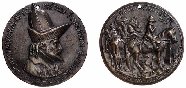 Medallón de Pisanello para el emperador bizantino Juan Paleólogo