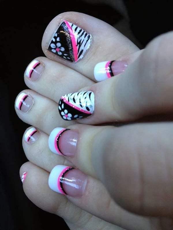 Cute toe nail designs and ideas fashion hippoo these are among the best toenail designs you can have although they are not much easy to do it by yourself you can certainly give it a try solutioingenieria Image collections
