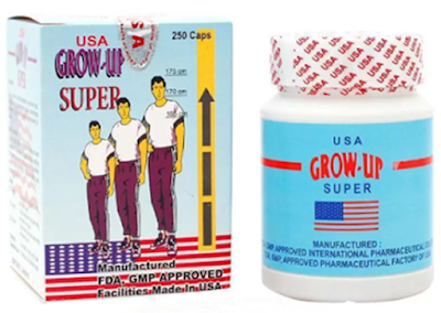 New Peninggi Badan Grow Up Suplemen USA Asli