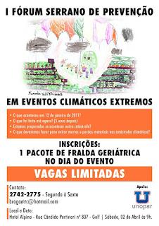 I Fórum Serrano de Prevenção em Eventos Climáticos Extremos