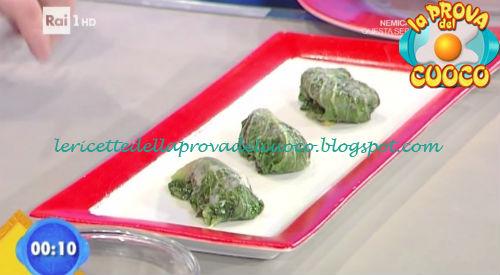 Involtini gratinati di scarola con caciocavallo ricetta Bottega da Prova del Cuoco