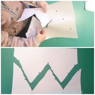 linie łamane na kartce
