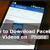 How to Save Videos From Facebook On android