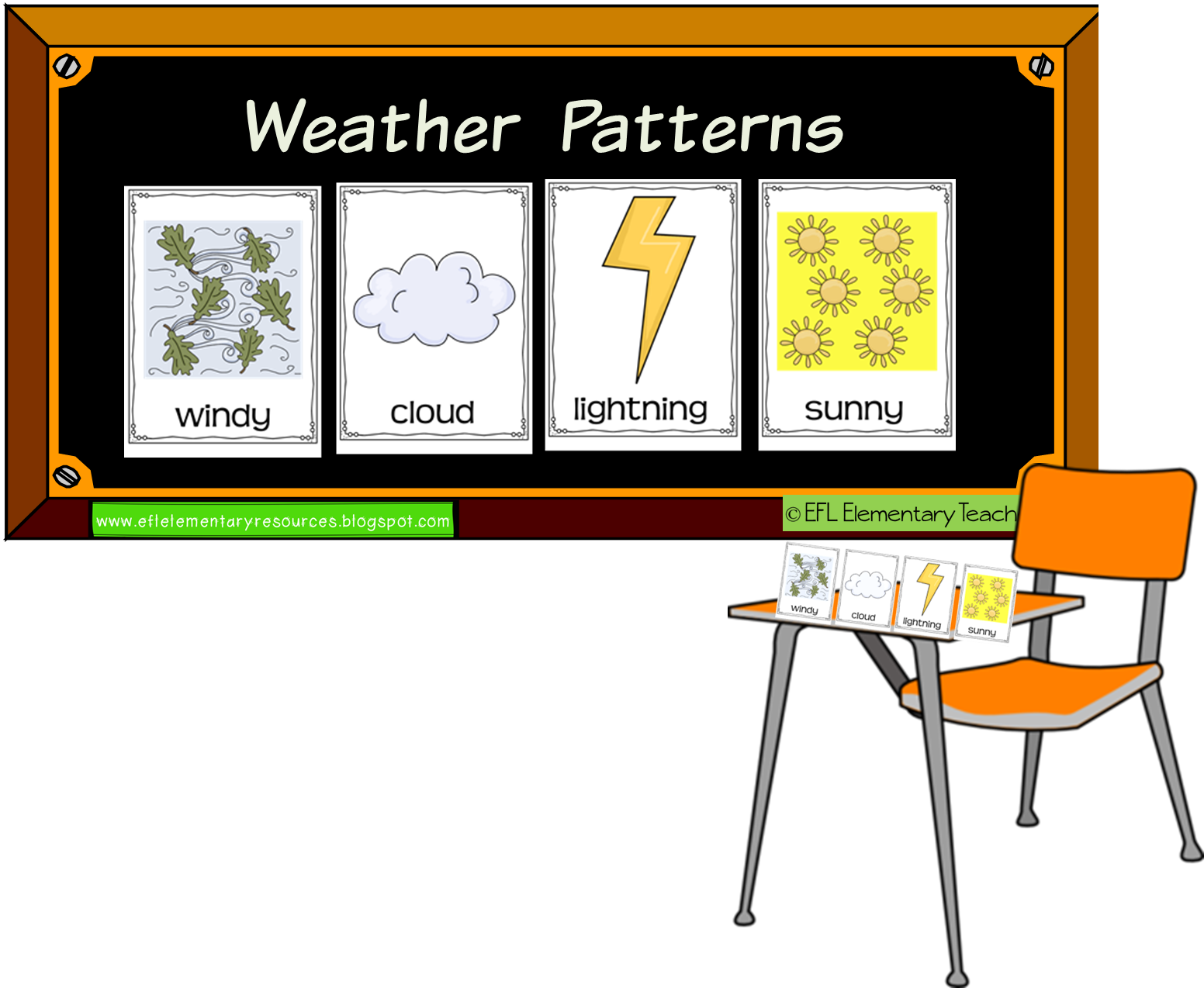 Kindergarten Worksheets Weather Flashcards Sunny