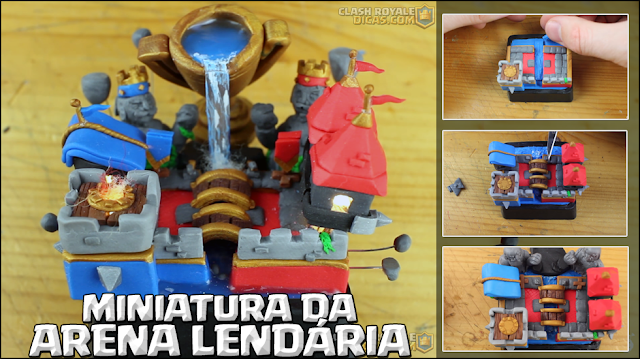 Maquete da Arena Lendária em miniatura
