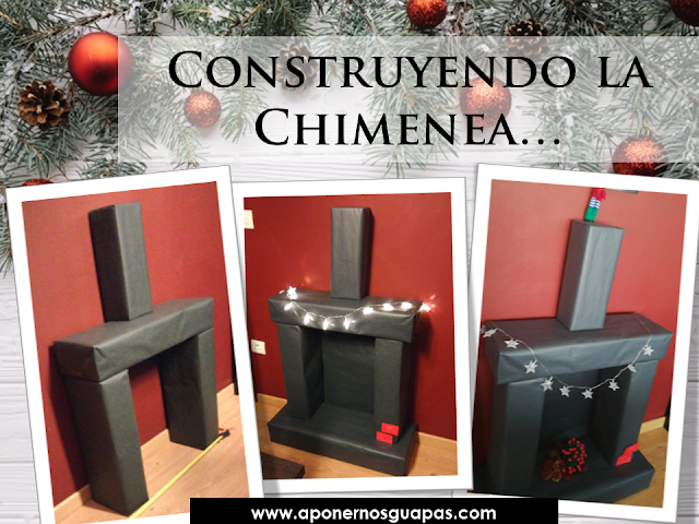 como construir una chimenea navideña