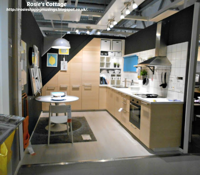 Ikea kitchen maximizes storage in an awkward space