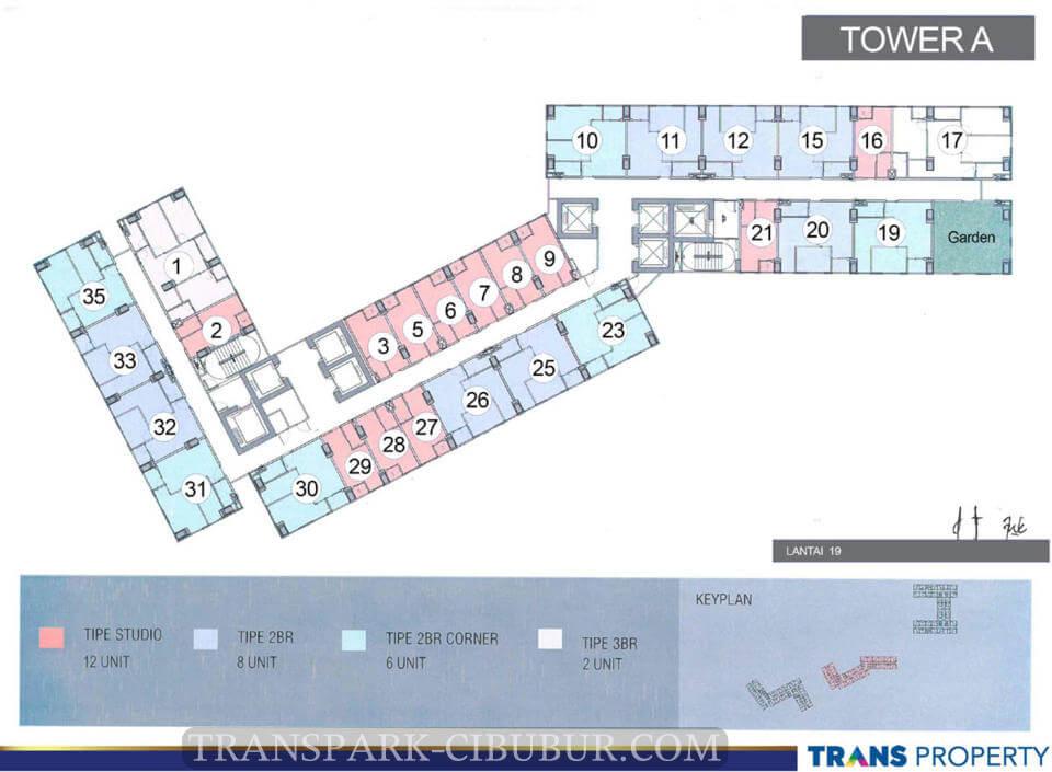 Floor Plan Apartemen TransPark Cibubur