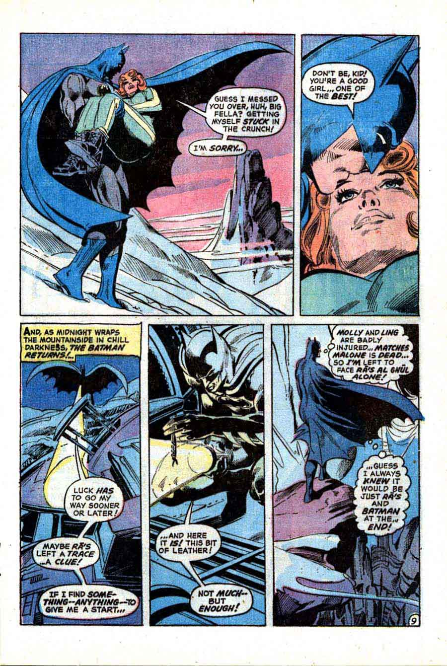 Batman v1 #244 dc comic book page art by Neal Adams