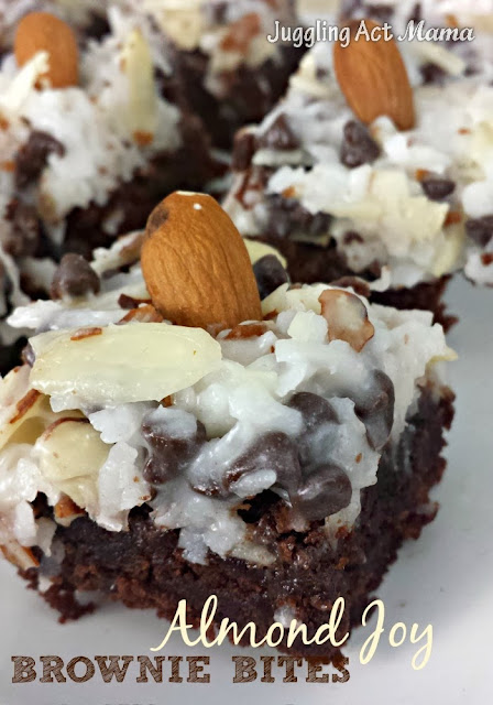 Almond Joy Brownie Bites are a semi-homemade recipe that will wow your guests. Store-bought brownie mix gets dressed up with a scrumptious topping!